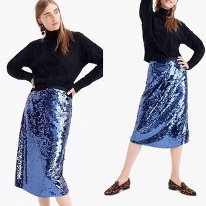 J. Crew Collection Sequin Midi Skirt
